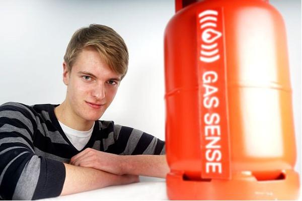 Η εφεύρεση του 19χρονου George Edwards τράβηξε ήδη την προσοχή του Σερ Richard Branson της Virgin (photo: Telegraph.co.uk)